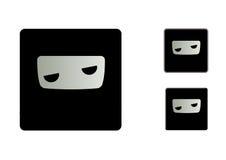 Gebohrter Ninja Icons Stockbilder