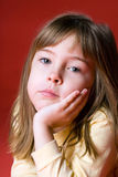 Gebohrtes Mädchen Stockbild