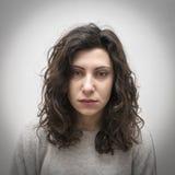 Gebohrtes Mädchenportrait Lizenzfreies Stockbild