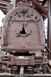Gebombardeerde uit trein van Koreaanse Oorlog Royalty-vrije Stock Afbeelding