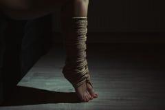 Gebonden benen royalty-vrije stock fotografie