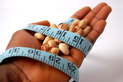 Gebonden in een dieet - Pistaches stock afbeelding