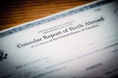 Geboorte in het buitenland Royalty-vrije Stock Afbeeldingen