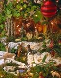 Geboorte van Christus 1 van Kerstmis stock afbeelding