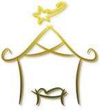 Geboorte van Christus vector illustratie