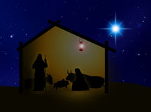Geboorte van Christus 2 vector illustratie