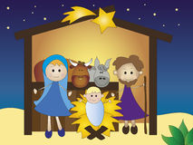 Geboorte van Christus Stock Fotografie