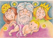 Geboorte van Christus Stock Foto