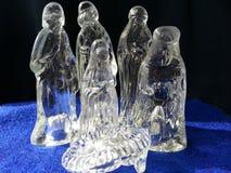 Geboorte van Christus in glas Stock Afbeeldingen