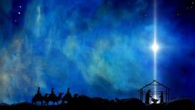 Geboorte van Christus van Jesus Star Of Bethlehem stock illustratie