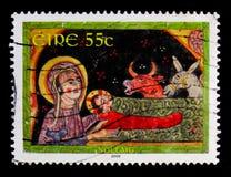Geboorte van Christus, Kerstmis 2009 serie, circa 2009 Royalty-vrije Stock Afbeeldingen