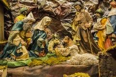 Geboorte van Christus scène Royalty-vrije Stock Foto