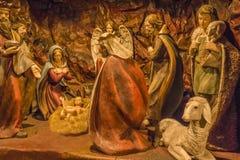 Geboorte van Christus scène Stock Afbeelding