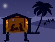 Geboorte van Christus. Wisemen Stock Foto