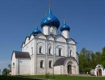 Geboorte van Christuskathedraal in het Kremlin van Suzdal stock foto