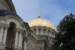 Geboorte van Christuskathedraal, Riga Royalty-vrije Stock Afbeeldingen