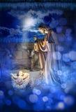Geboorte van Christuskerstmis Jesus Birth Stock Afbeeldingen