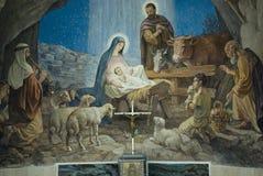Geboorte van Christusscène Stock Foto's