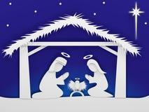 Geboorte van Christusscène Stock Foto