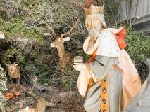 Geboorte van Christusscène vóór Kerstmis Stock Afbeelding