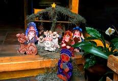 Geboorte van Christusscène van Bethlehem stock afbeelding