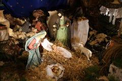 Geboorte van Christusscène Royalty-vrije Stock Afbeeldingen