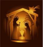 Geboorte van Christusscène Royalty-vrije Stock Fotografie