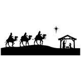 Geboorte van Christussilhouet royalty-vrije illustratie