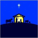 Geboorte van Christustrog stock illustratie