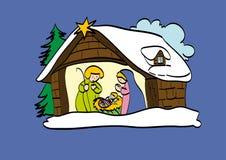Geboorte van Jesus stock illustratie