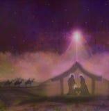 Geboorte van Jesus in Bethlehem Stock Afbeelding