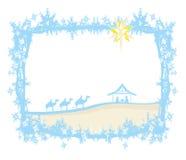 Geboorte van Jesus in Bethlehem stock illustratie