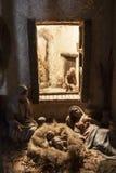 Geboorte van Jesus Nativityscène van Kerstmis Stock Foto