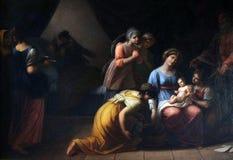 Geboorte van Maagdelijke Mary stock afbeeldingen