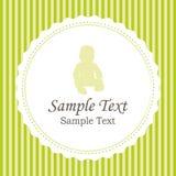 Geboorteaankondigingen of de kaart van de babydouche Stock Foto