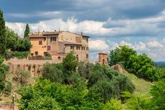 Geboortedorp van Giovanni Boccaccio, auteur van Decameron Royalty-vrije Stock Foto