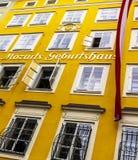 Geboorteplaats van de beroemde componist Wolfgang Amadeus Mozart in Salzburg, Oostenrijk Royalty-vrije Stock Afbeelding