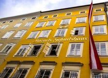 Geboorteplaats van Wolfgang Amadeus Mozart in Salzburg, Oostenrijk Stock Foto