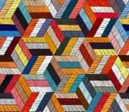 Geborduurd naadloos geometrisch patroon Ornament voor het tapijt royalty-vrije illustratie