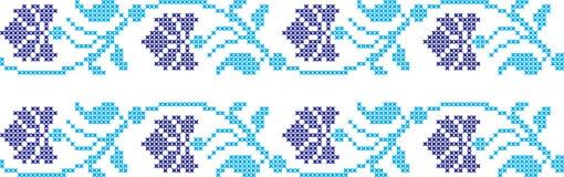 Geborduurd Oekraïens nationaal patroonkruis vector illustratie
