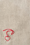 Geborduurd rood hart Royalty-vrije Stock Afbeelding