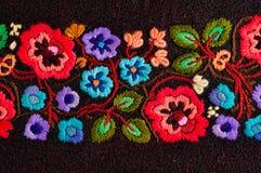 Geborduurde bloemen Stock Foto's