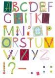Geborduurde brieven royalty-vrije illustratie