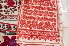 Geborduurde handdoeken centrale gebieden van de Oekraïne Royalty-vrije Stock Fotografie