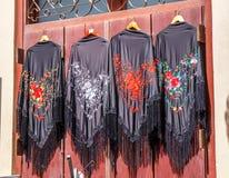 Geborduurde sjaals Royalty-vrije Stock Foto