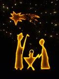 Geboren Jesus-Christus Stock Afbeeldingen