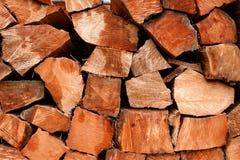 Geborgen oude houten de logboekenbesnoeiing van de de groei ruwe gespleten ceder Stock Foto