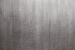 Geborsteld aluminium of staal - zilveren achtergrond stock afbeeldingen