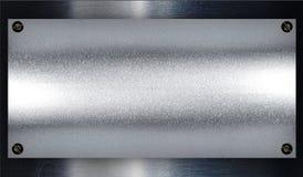 Geborsteld zilveren metaal. stock afbeelding