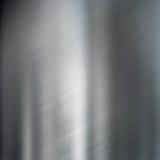 Geborstelde de textuurachtergrond van het staalmetaal Royalty-vrije Stock Foto